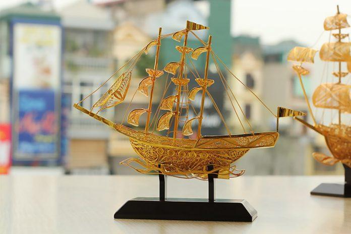 bài trí thuyền buồm phong thủy
