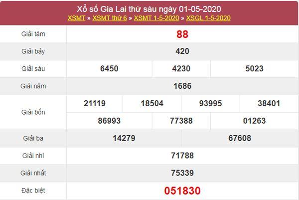 Soi cầu XSGL 8/5/2020 - KQXS Gia Lai thứ 6 hôm nay