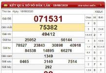 Soi cầu KQXSDL- xổ số đắc lắc thứ 3 ngày 25/08/2020 tỷ lệ trúng cao
