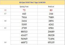 Soi cầu XSMT 18/8/2020 chốt lô VIP miền Trung thứ 3