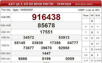 Soi cầu KQXSBP ngày 26/09/2020- xổ số bình phước thứ 7