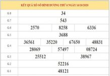 Soi cầu XSBD ngày 23/10/2020 dựa trên phân tích KQXSBD kỳ trước