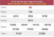 Soi cầu XSTN 15/10/2020 chốt lô số đẹp Tây Ninh thứ 5