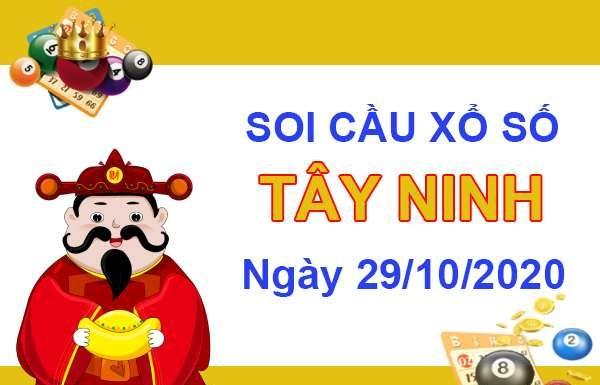 Soi cầu Xổ Số Tây Ninh ngày 29/10/2020