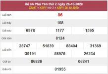 Soi cầu KQXS Phú Yên 2/11/2020 thứ 2 siêu chuẩn