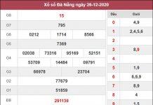 Soi cầu KQXS Đà Nẵng 30/12/2020 thứ 4 siêu chuẩn xác