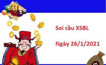 Soi cầu XSBL 26/1/2021