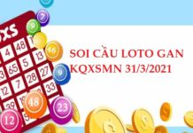 Soi cầu loto gan XSMN 31/3/2021