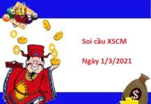 Soi cầu XSCM 1/3/2021