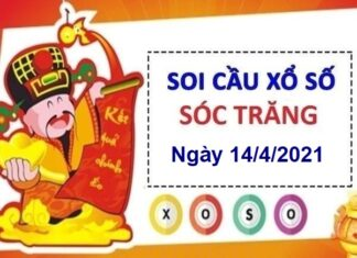 Soi cầu XSST ngày 14/4/2021